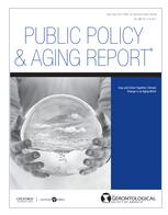 Public Policy & Aging Report.